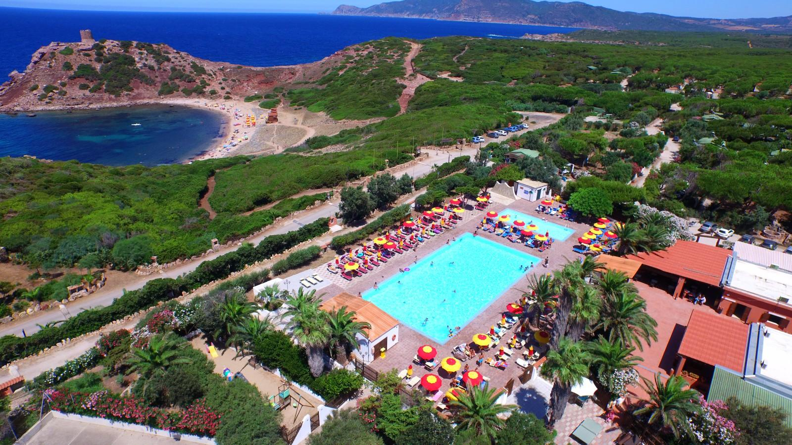 Cottage 2 Rooms in camping Village with pool, Alghero, Sardinia