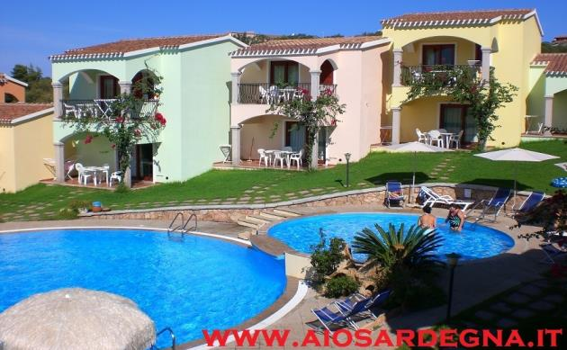 Rental holiday Apartments Residence swimming pool, games for children Badesi Northern coast of Sardinia